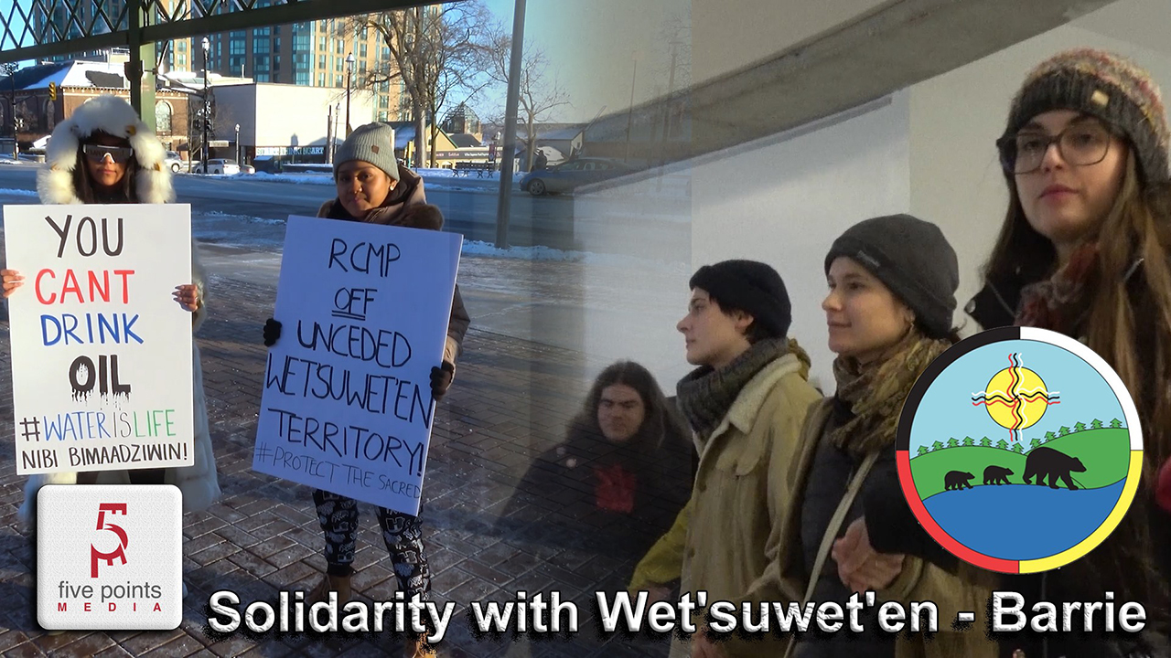 Solidarity with Wet'suwet'en - Barrie, 2020