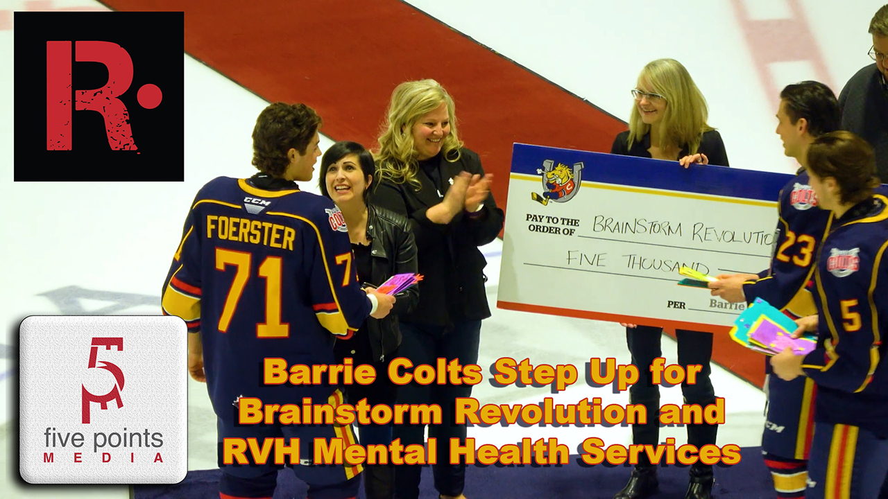 Barrie Colts Step Up for Brainstorm Revolution and RVH Mental Health Services, 2020