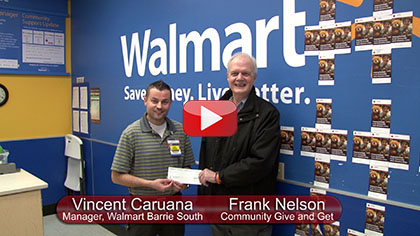Community Give and Get Receives Donation from Walmart