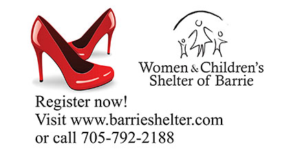 Women and Children's Shelter of Barrie 'Walk A Mile' Shoe Promo