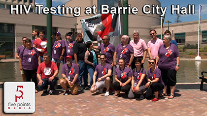 National HIV Testing Day Held At Barrie City Hall